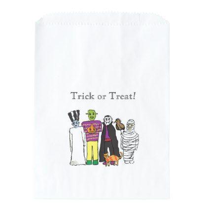 Monsters Halloween Party Favor Bag