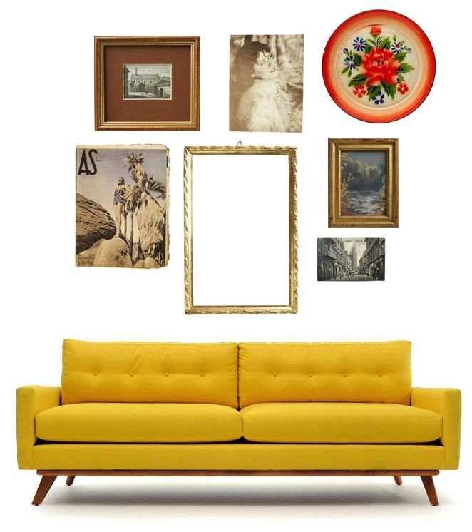 Frame it! How to put together a gallery wall with vintage frames ...