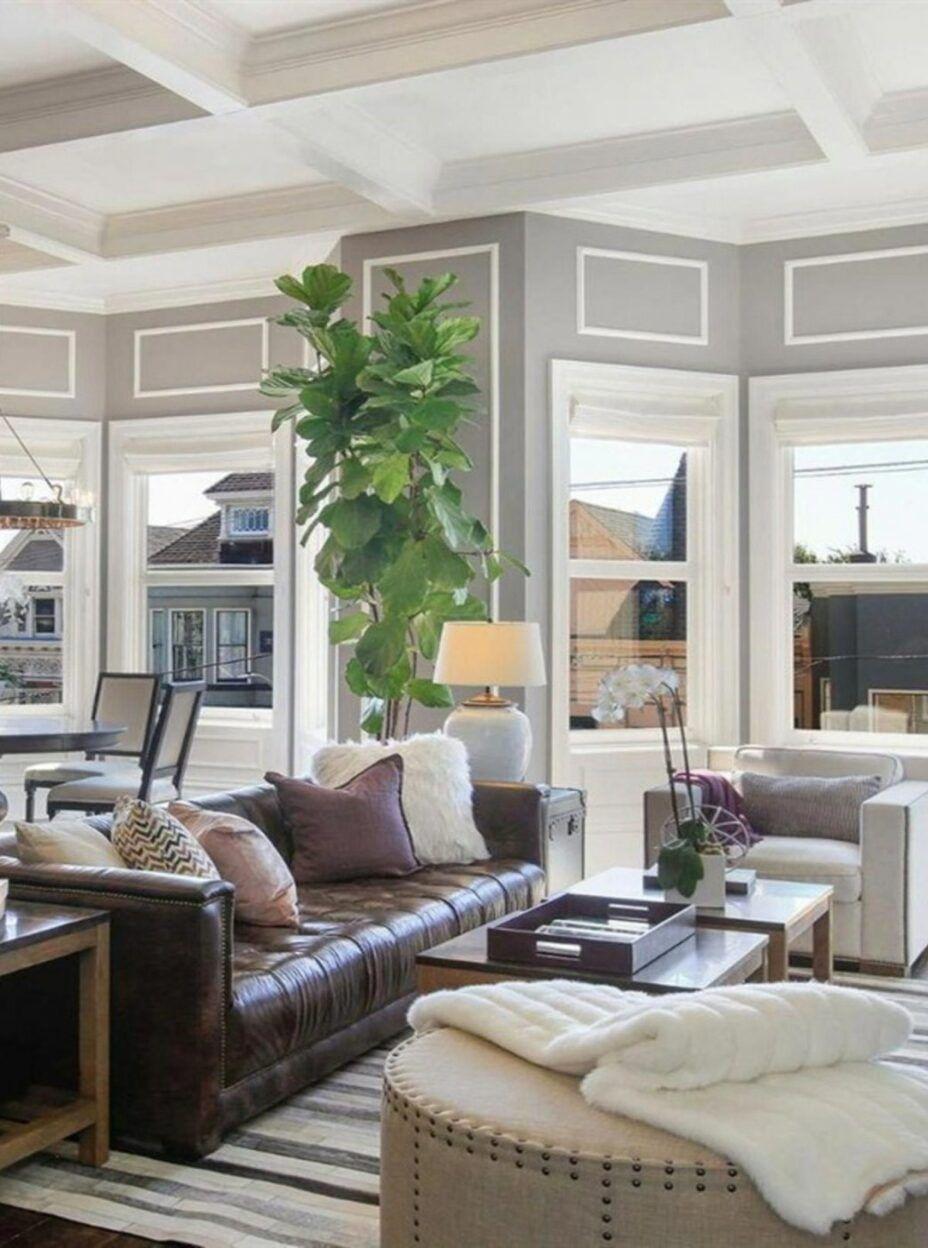 28 Brown Sofa Decorating Living Room Ideas 2020 In 2020 Lea