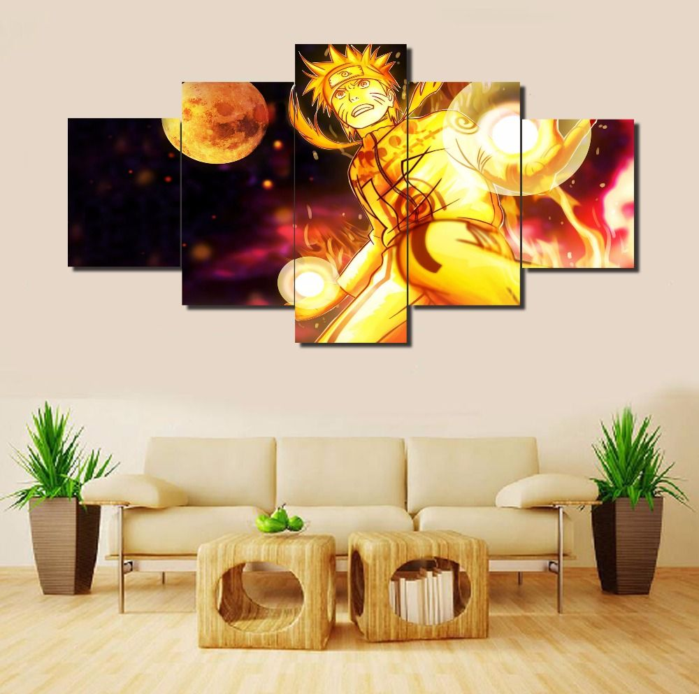 5 Pcs Modern Wall Art Naruto Kyubi (2 size) | Naruto merchandise and ...