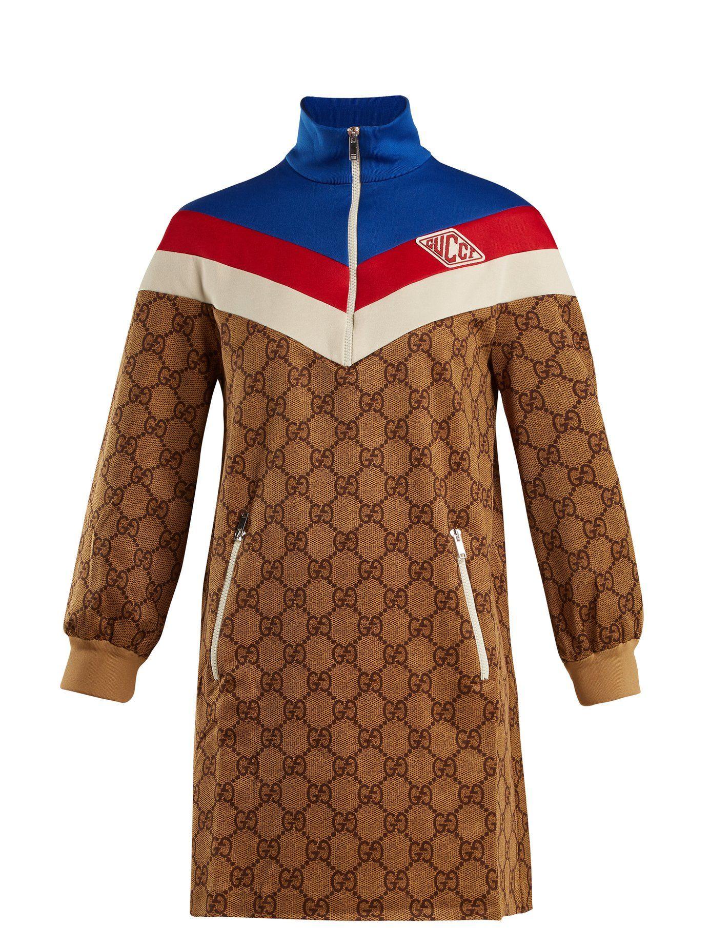 GGprint technicaljersey dress Gucci MATCHESFASHION