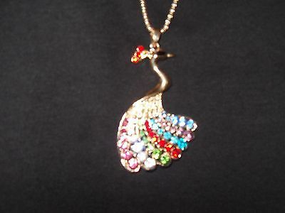 Betsey Johnson Bejeweled Peacock Pendant Necklace FREE FAST SHIP! - http://designerjewelrygalleria.com/betsey-johnson/betsey-johnson-bejeweled-peacock-pendant-necklace-free-fast-ship/