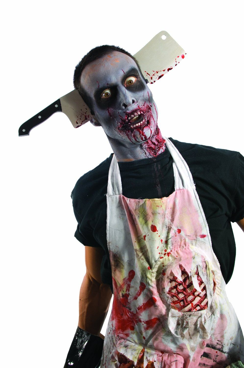 rubies costume zombie shop cleaver through head silverredblack one size halloween costumes - Halloween Costumes Of Zombies