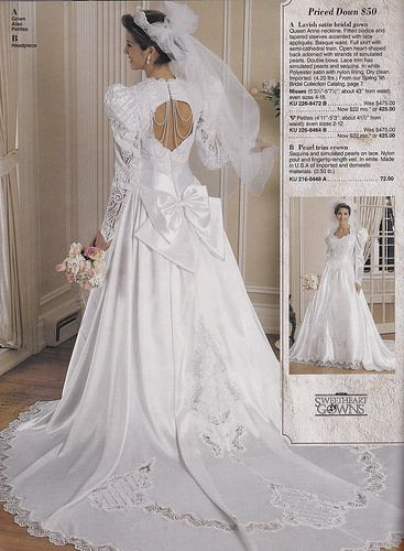 From A Mid 90u0027s JC Penney Bridal Catalog | By Houttb
