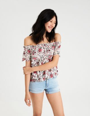 acc20b856b29b AE Floral Off-the-Shoulder Top by American Eagle Outfitters