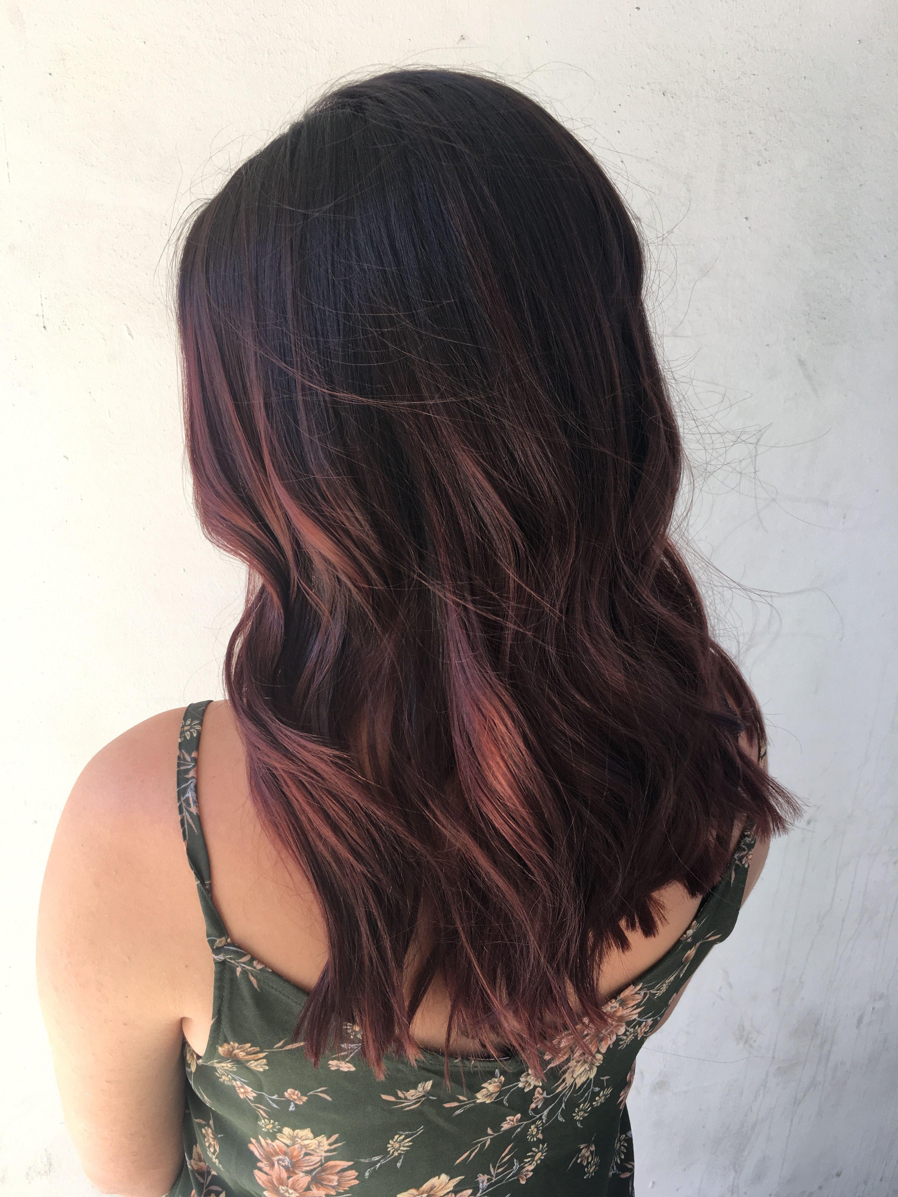 Burgundy Hair Mahogany Hair Red Balayage Hair Hair Painting Dark