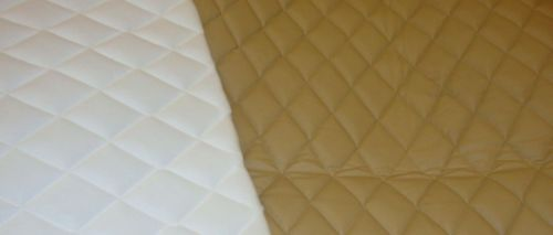 Camel Quilted Vinyl Fabric With 3 8 Foam Backing Upholstery By The