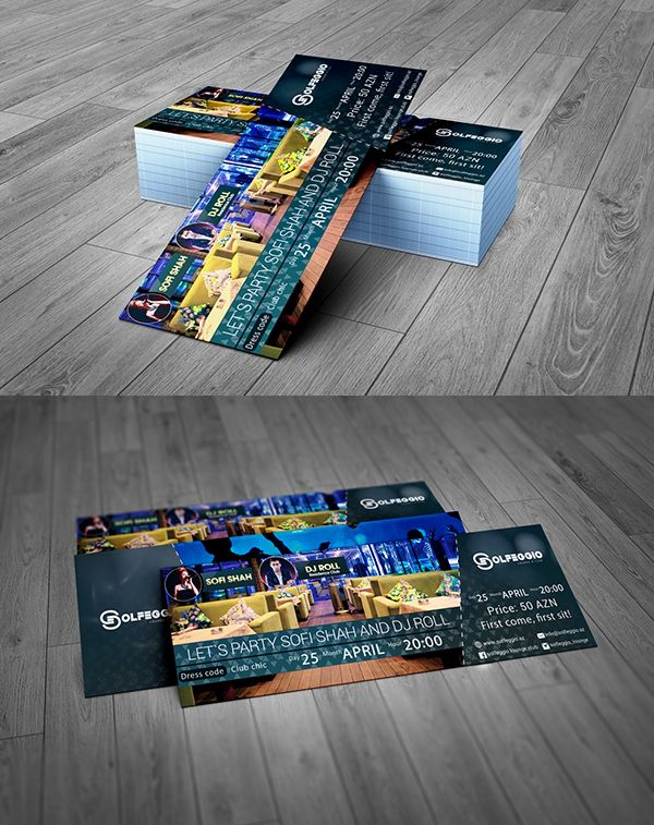 Event Ticket Free PSD Template | Free PSD Files | Free PSD Files by ...