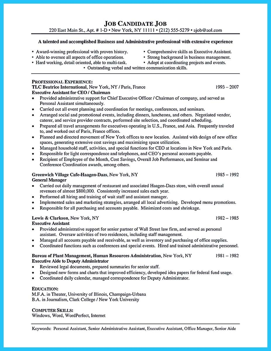 cool Professional Administrative Resume Sample to Make You Get the ...