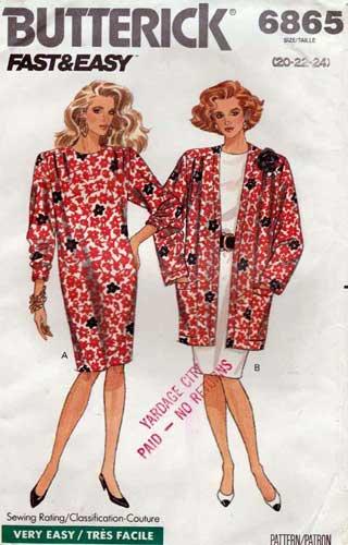 4848 Vintage Butterick SEWING Pattern Misses EASY Top Skirt See /& Sew UNCUT OOP