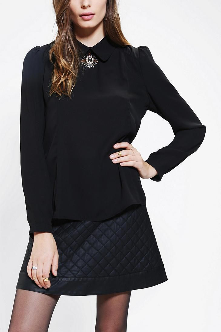 Sister Jane Victorian Brooch Blouse #urbanoutfitters