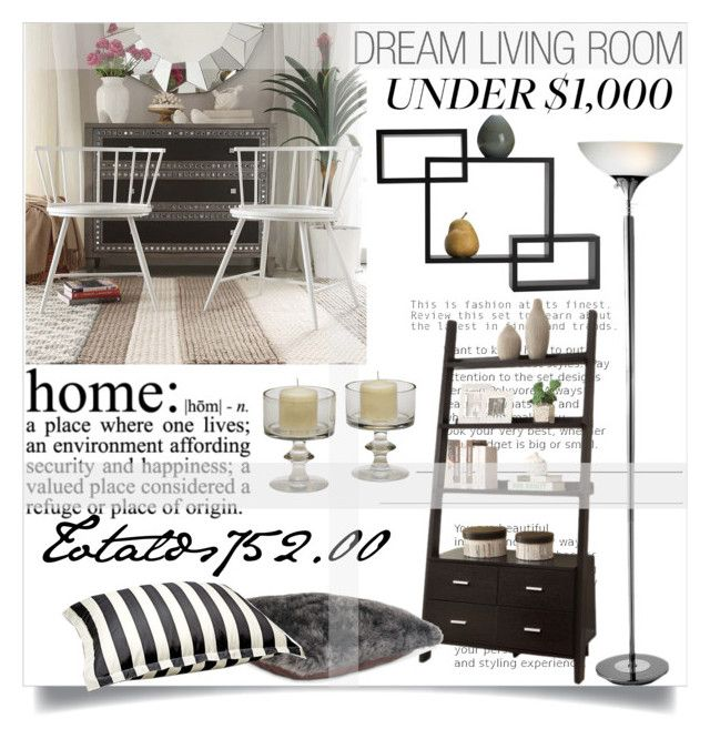 """Living Room Under !"" by clotheshawg ❤ liked on Polyvore featuring interior, interiors, interior design, home, home decor, interior decorating, HomeVance, GO Home Ltd., Wildon Home and Mikasa"