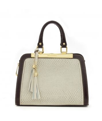 9175d6c2b7 Agna  bolsa feminina de couro anandra cor marfim e café