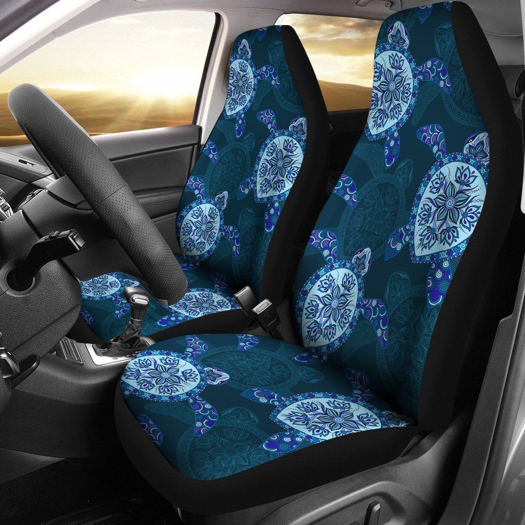 Wondrous Turtle Floral Blue Design Turtle Car Seat Covers Lt04 Uwap Interior Chair Design Uwaporg