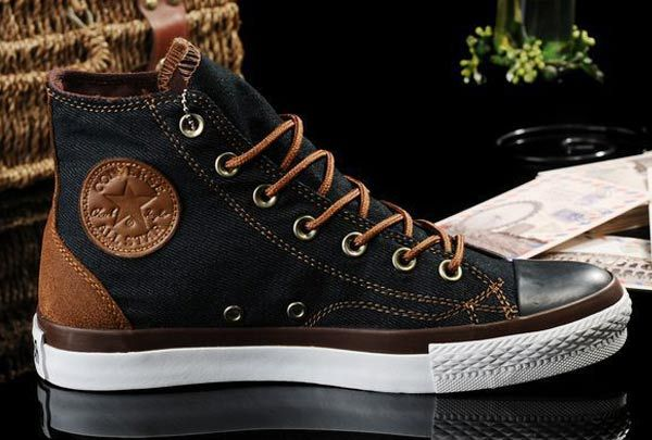 07e712866001 2013 New Converse All Star Vampire Diaries Black Denim Couples Sneakers High  Tops  J13050607  -  58.00   Discount Converse All Star Sneakers Sale