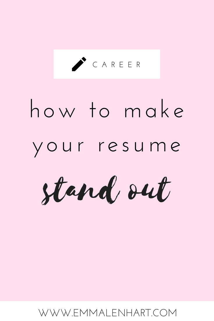 how to make a resume stand out from others and get job interviews