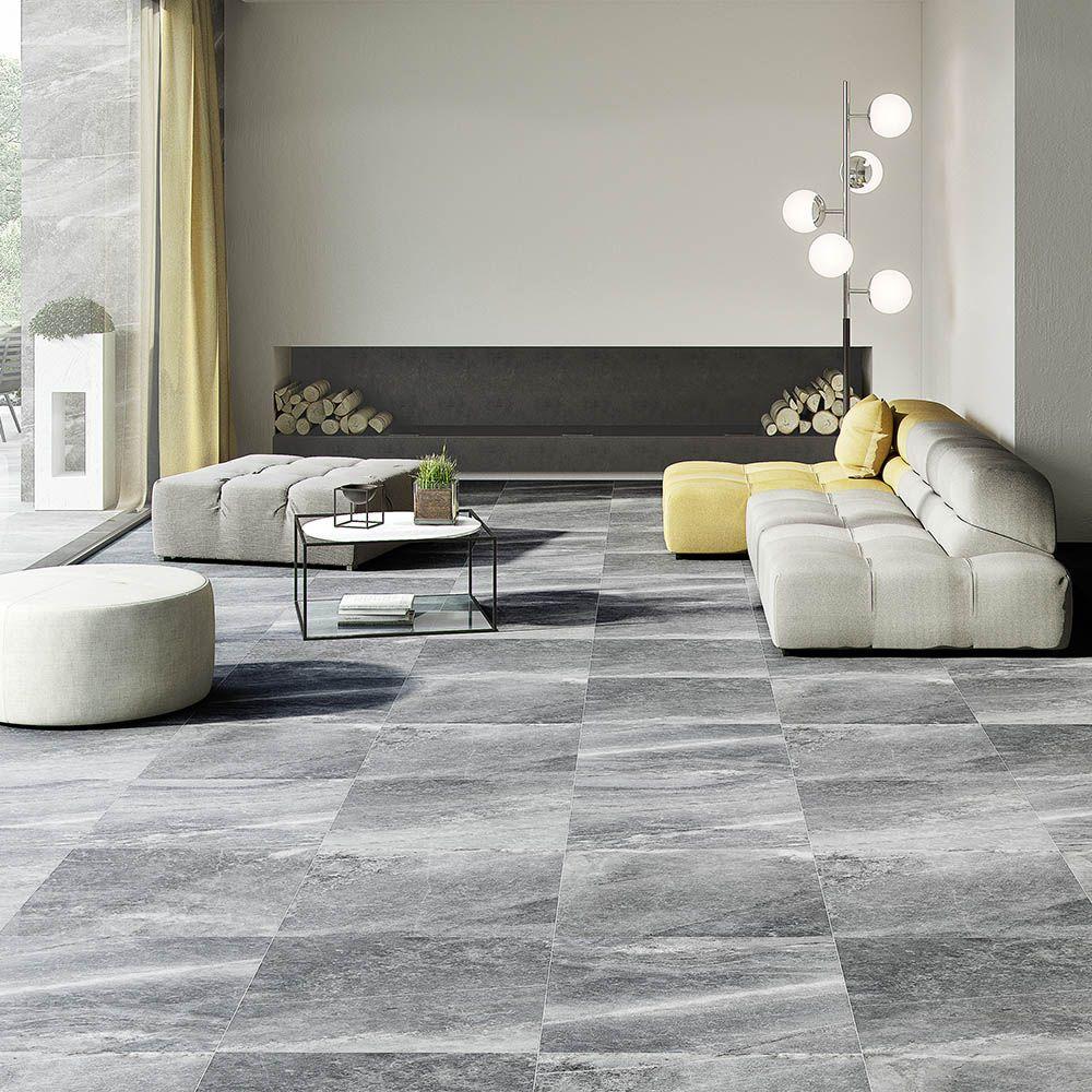 Novus Grey Stone Effect Wall and Floor Tiles - 5 x 5mm  Wall