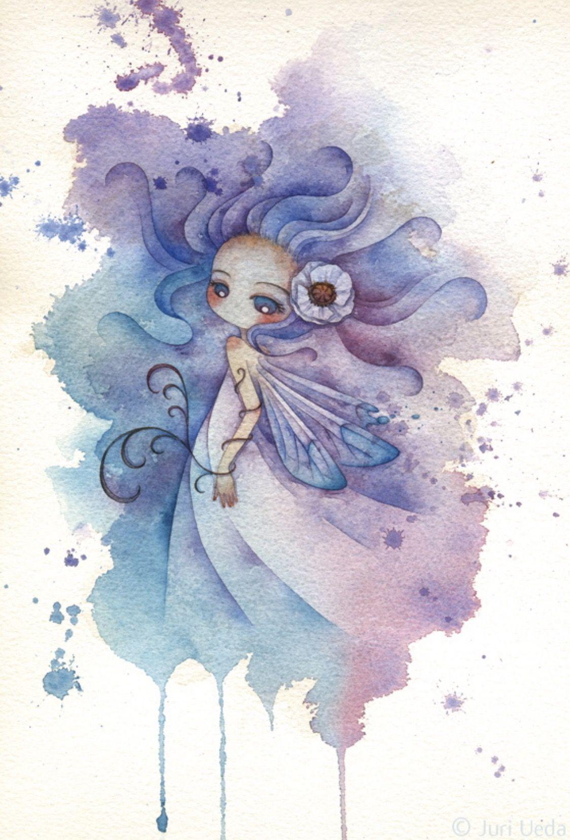 Картинки акварелью о феях