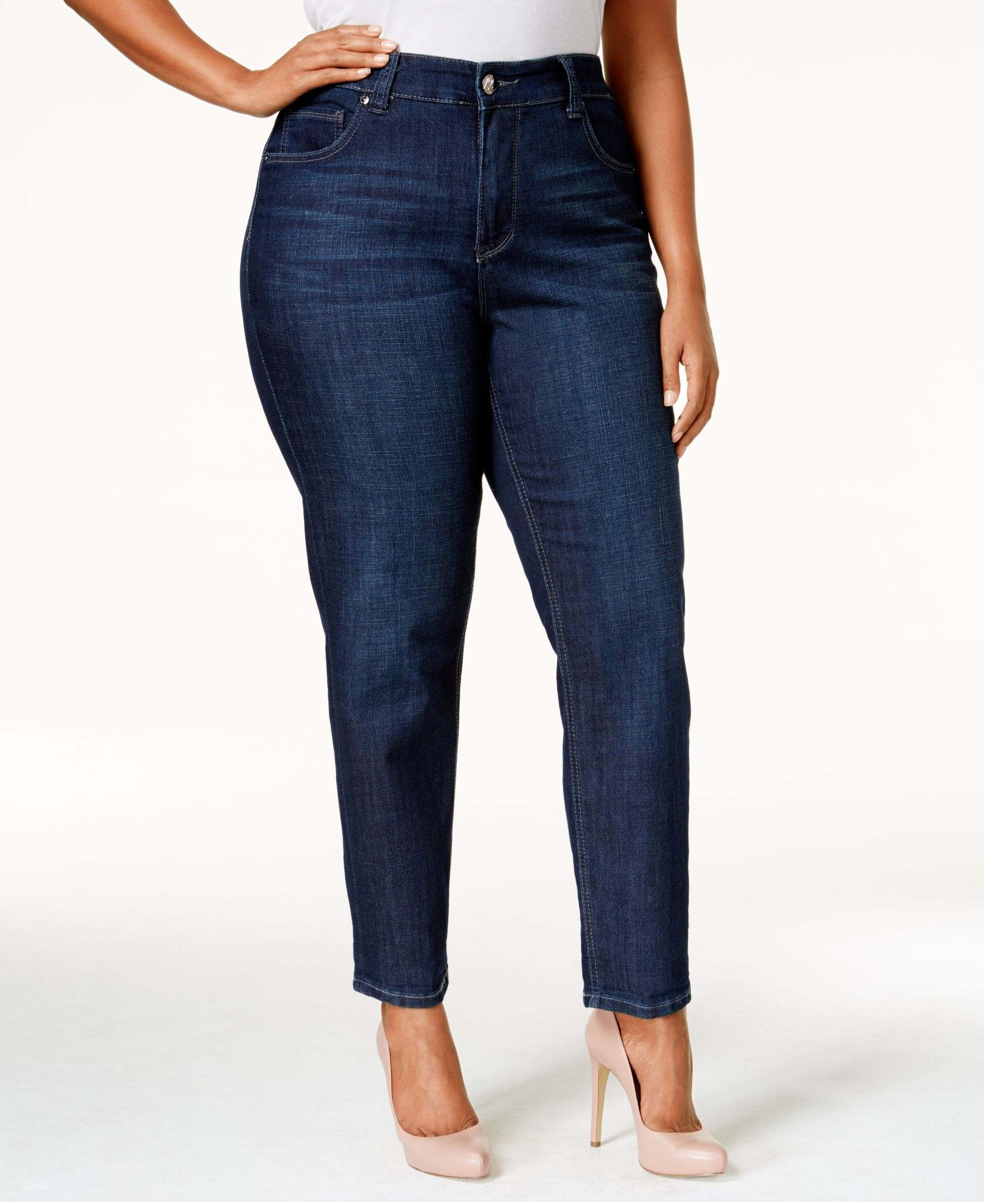 cf64f5d1a2da5 Melissa McCarthy Seven7 Plus Size Gordon Wash Straight-Leg Jeans ...