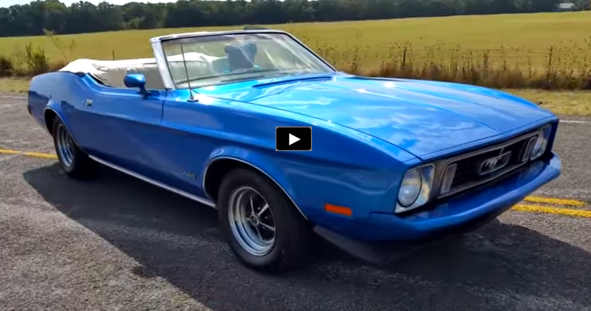 STUNNING BLUE 1973 FORD MUSTANG 302 CONVERTIBLE