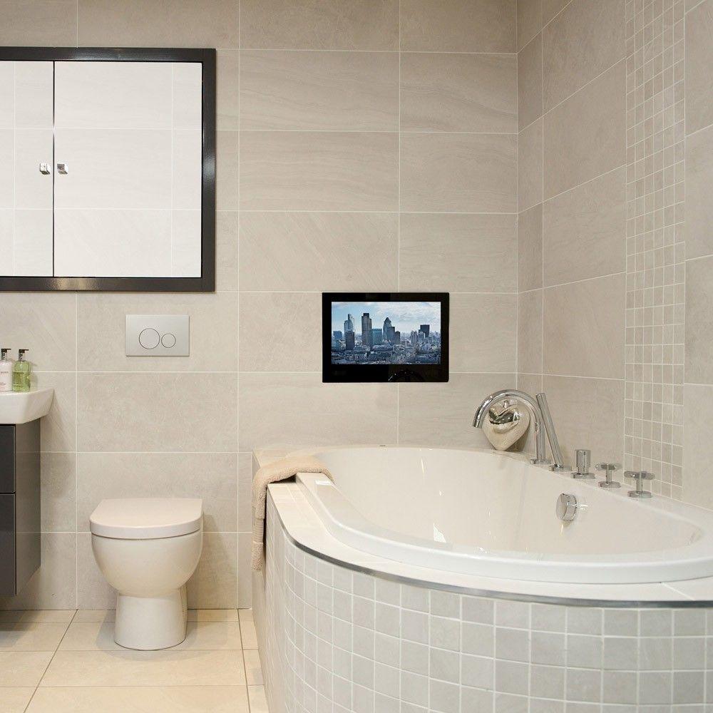 24 Waterproof Bathroom Tv Tv In Bathroom Small Bathroom Luxury Master Bathrooms