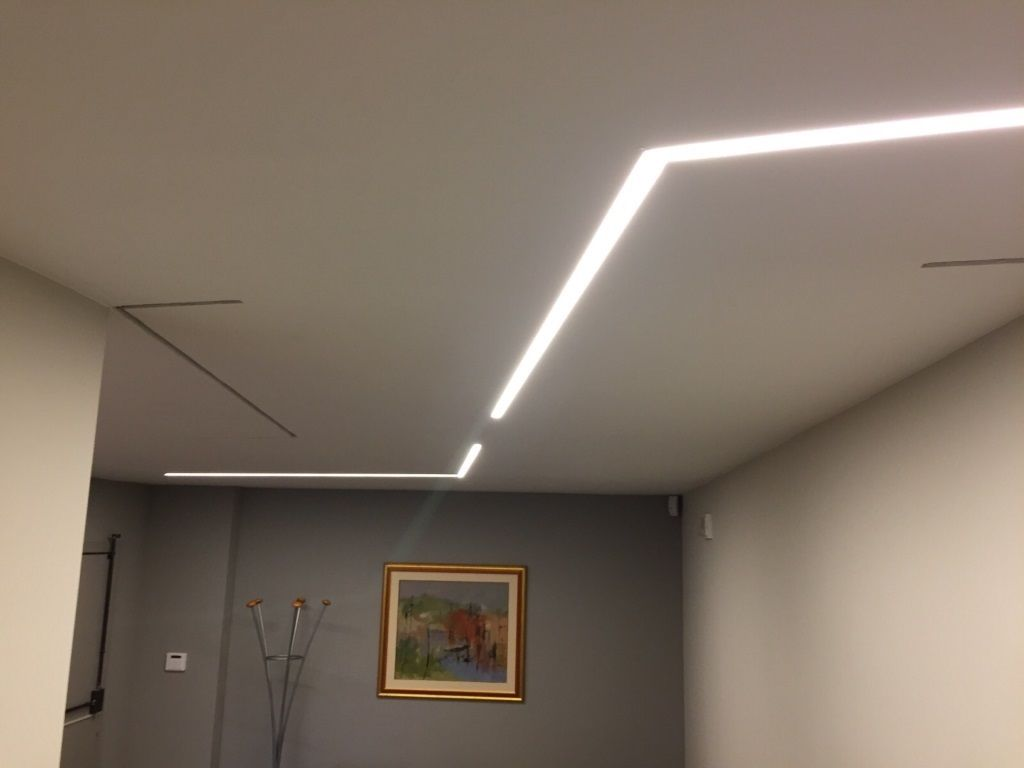 Striscia led in controsoffitto in cartongesso gyps light nel