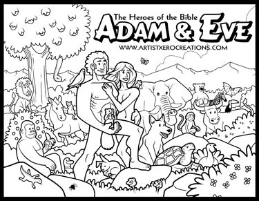 The Heroes Of Bible Coloring Pages On Behance