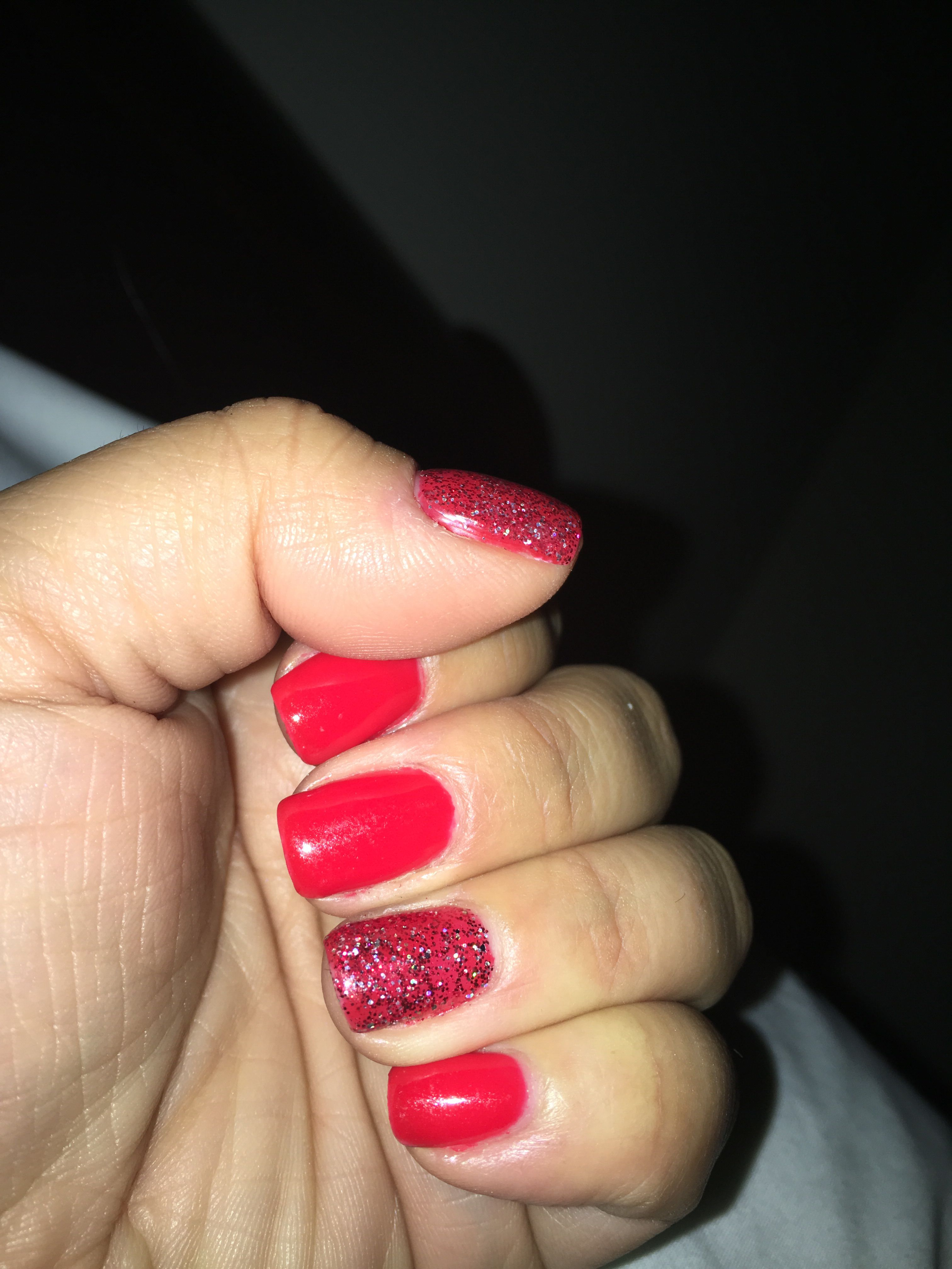 Ferrari Red With Love Letter Glitter From Dnd Gel Nail Polish