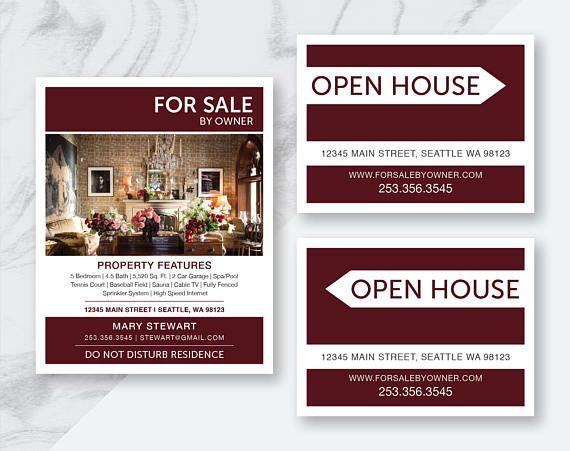 Digital Download Real Estate For Sale By Owner Printables For