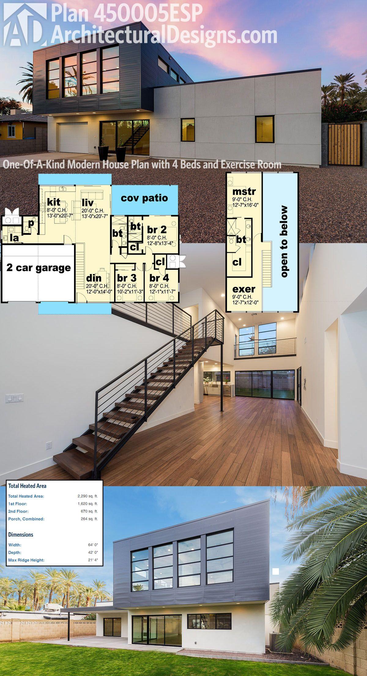 beach house idea Plan 450005ESP One Of A Kind Modern