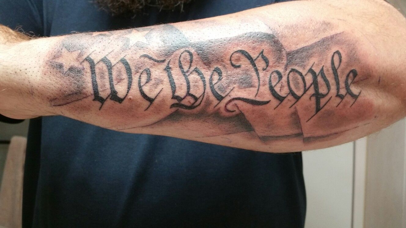 "New addition to the patriotic arms ""we the people"" 