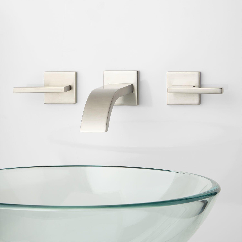 Triton Wall Mount Bathroom Faucet Lever Handles Bathroom