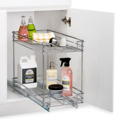 Lynk Roll Out Under Sink Double Drawers Bed Bath Beyond Bathroom Cabinet Organization Under Sink Drawer Undersink Bathroom Storage