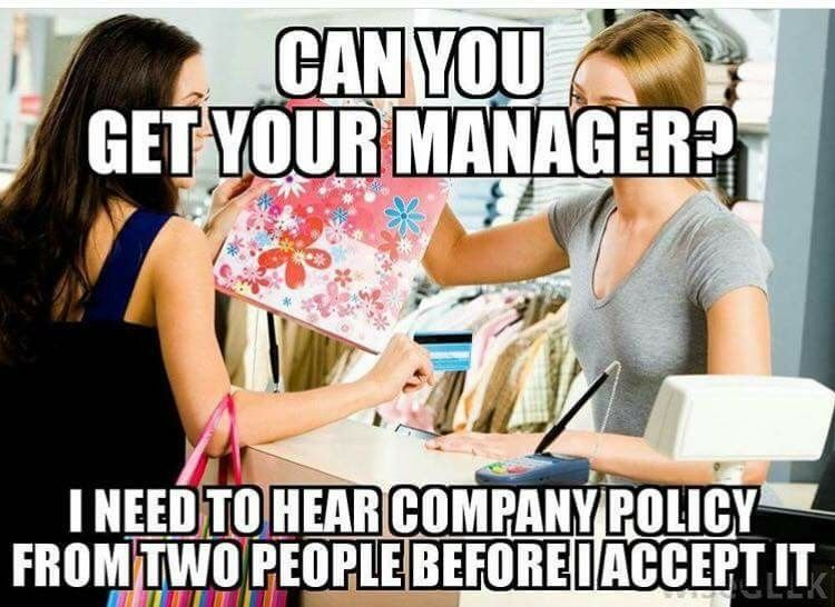 retailmemes manager hear companypolicy twopeople