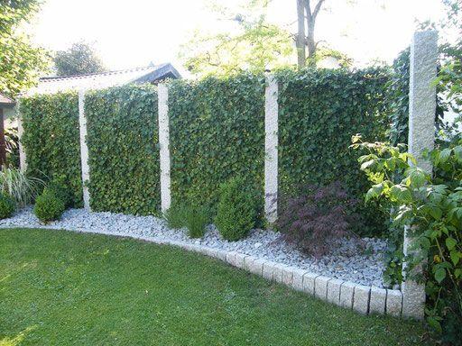 efeuhecke an granitstelen - mobilane fertighecke® - pflanzfertige, Gartenarbeit ideen