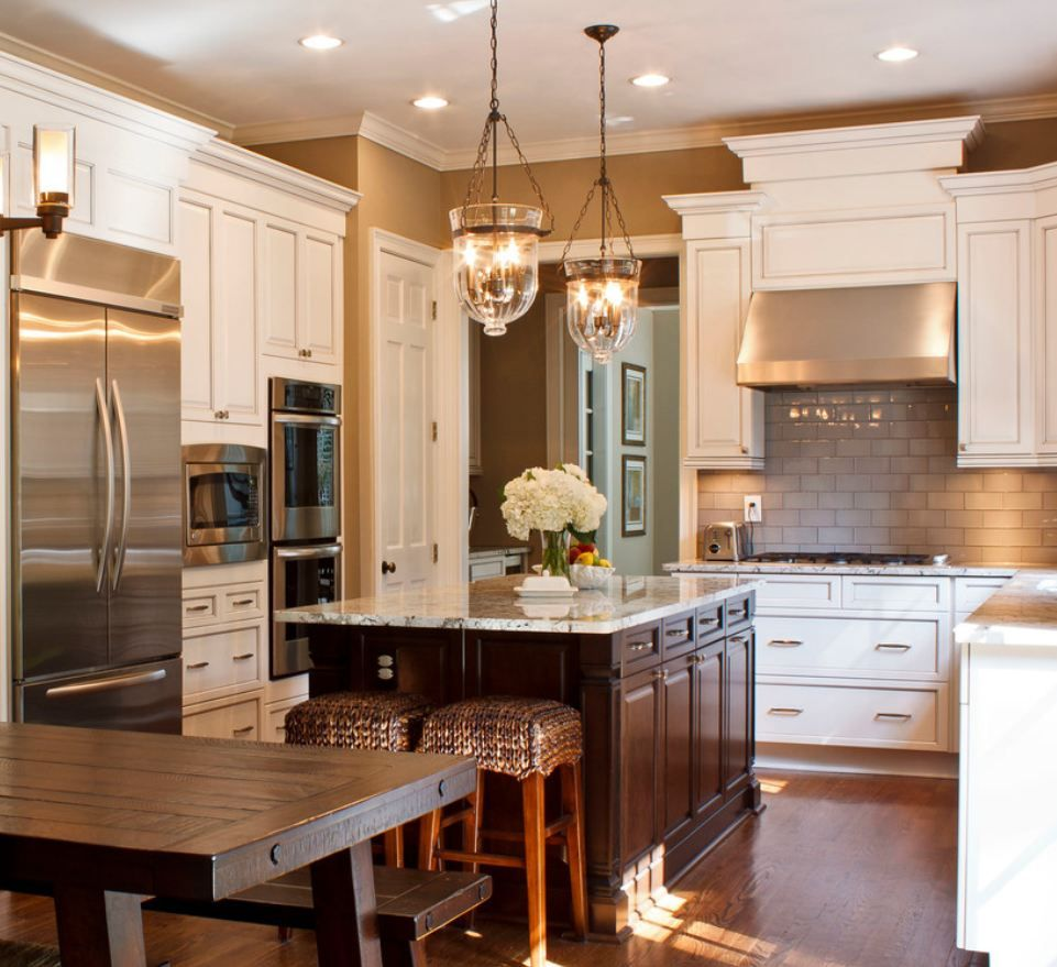 Traditional Kitchen Lighting 25 Glamorous Gray Kitchens Pewter Cabinets And Pottery