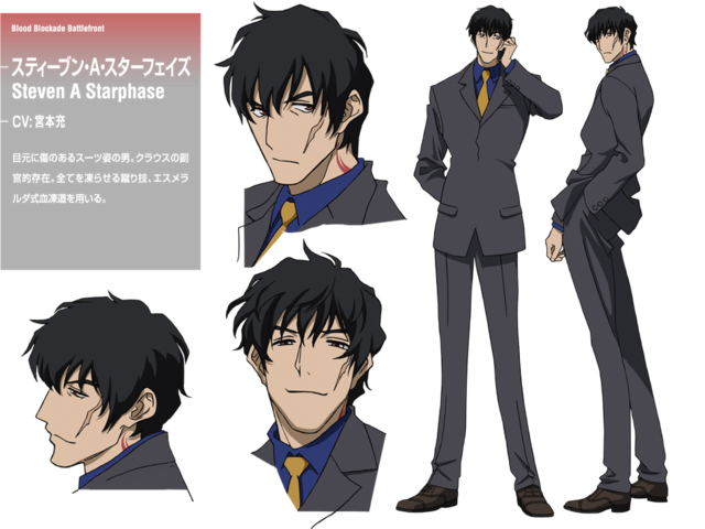 Kekkai Sensen | Blood Blockade Battlefront | Steven A. Starphase | Anime | Character Design | SailorMeowMeow