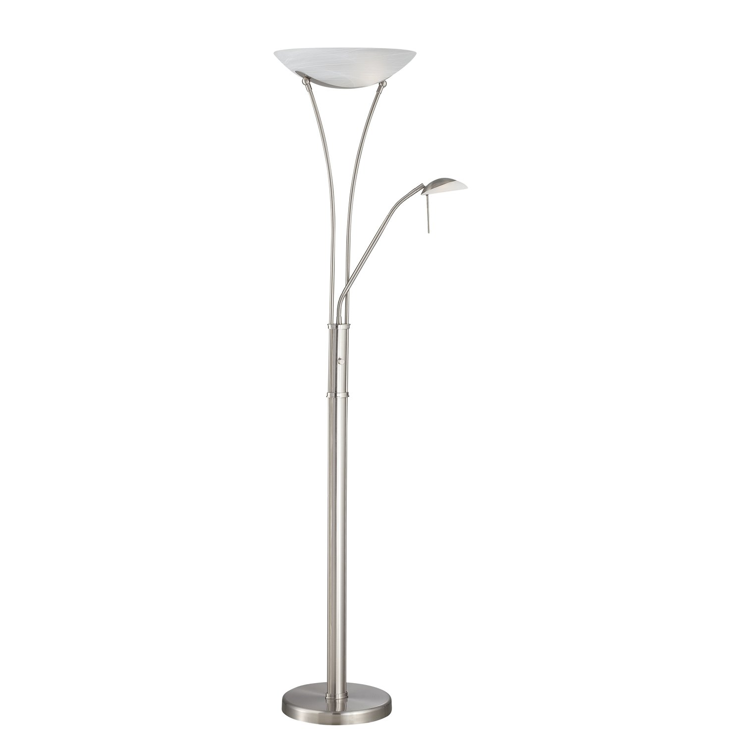 Steel Reading Light Torchiere Lamp Avington Products In