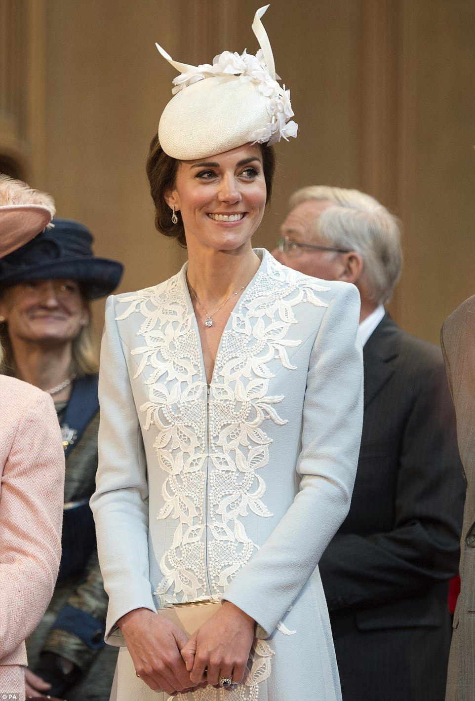 The Duchess of Cambridge revealed today that her daughter Princess Charlotte's sweet face belied a rather 'feisty' nature as she attended a reception at London's Guildhall