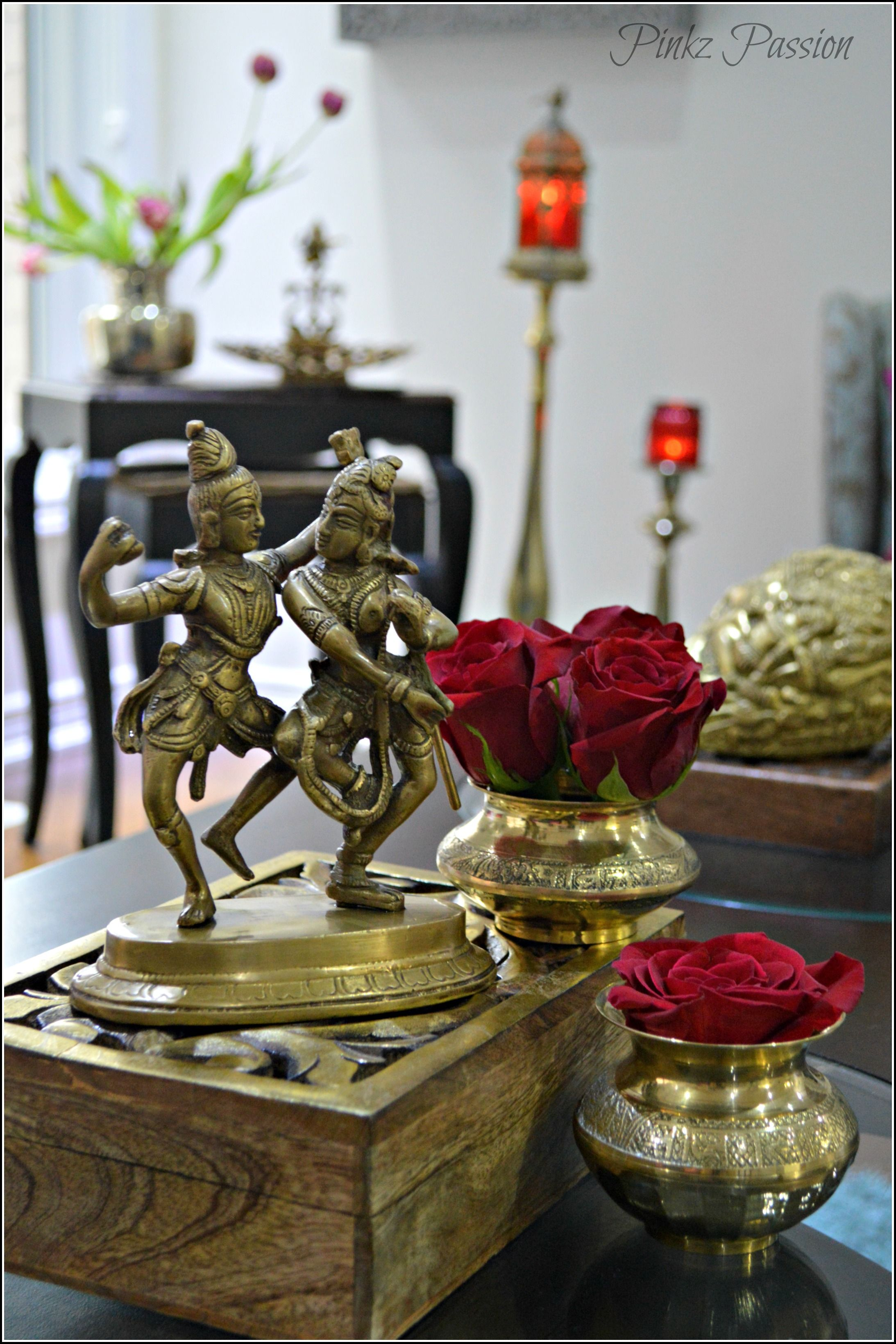 Indian decor, brass vignette, home decor, shiva, Shaktinandan ...