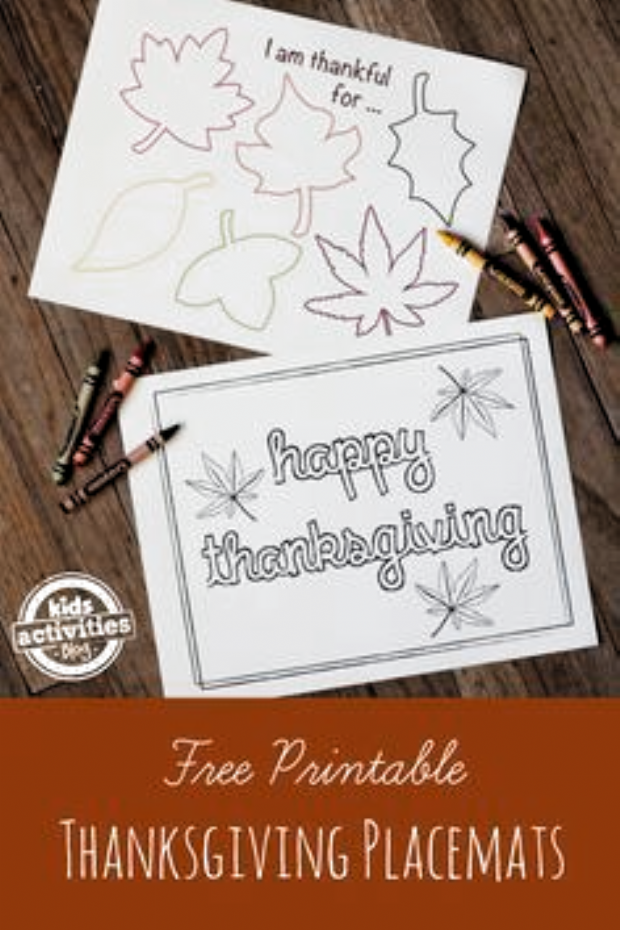 Free Printable Thanksgiving Placemats #thanksgivingplacematspreschool Simple Printable Thanksgiving Placemats for Kids