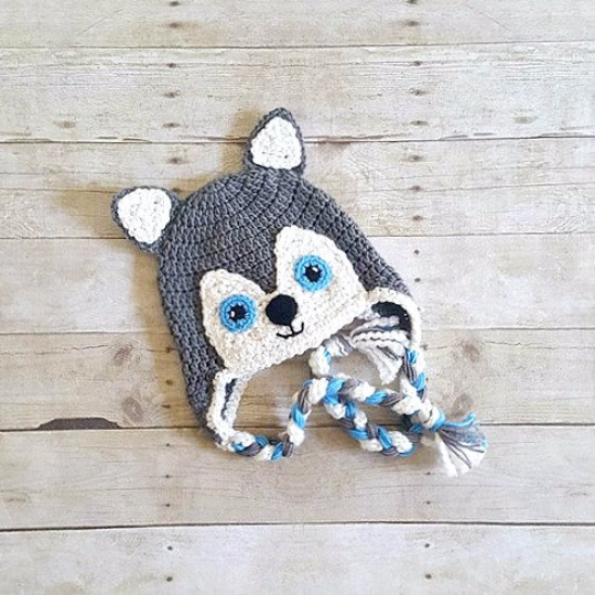 Crochet Wolf Husky Dog Hat Beanie Newborn Baby Infant Toddler Child Adult  Animal Hat Photography Photo Prop Handmade Baby Shower Gift f5813c0aa88