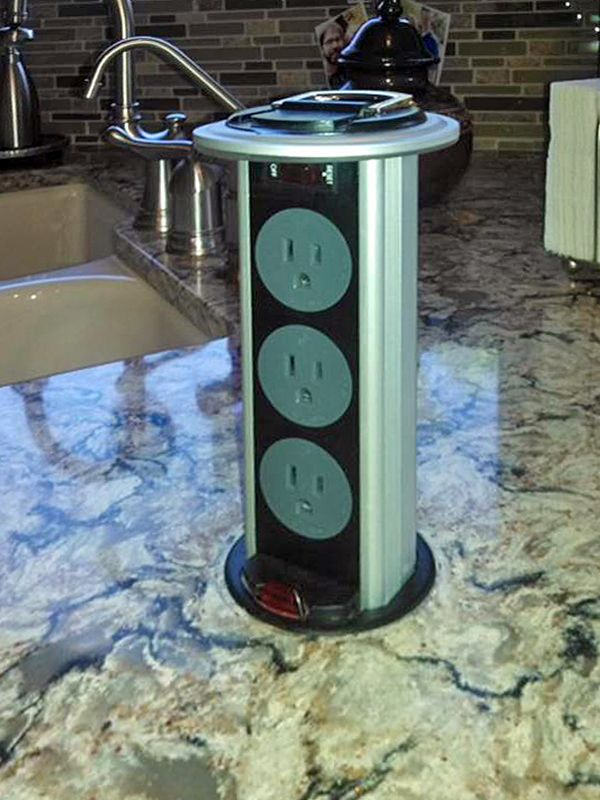 Wonderful PCS34   Kitchen Power Grommet #DougMockett #PowerOutlets #KitchenCountertops