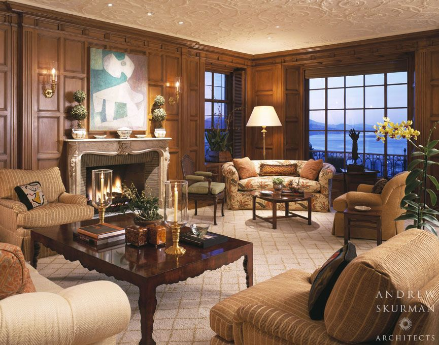 Captivating Wood Paneled Living Room. Photographer: Matthew Millman Part 10