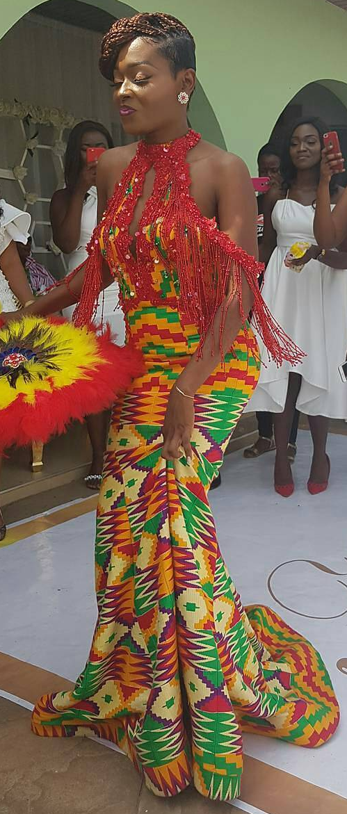 Kente wedding fashion dress, African fashion, Ankara, kitenge ...