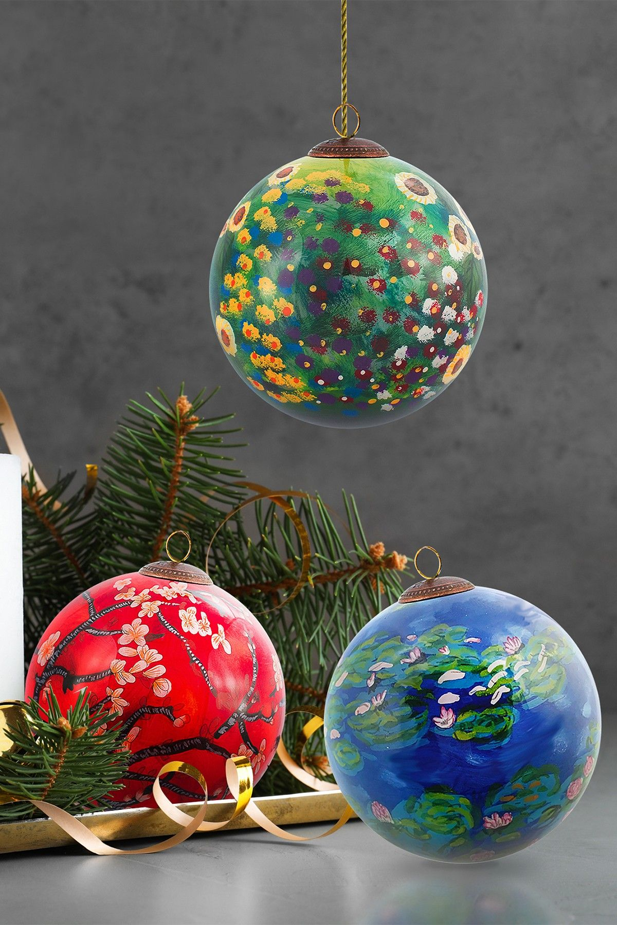 Is The Frog Pond Open On Christmas Day 2020 Frog Pond Christmas Hand Painted Glass Ornament Collection   Set