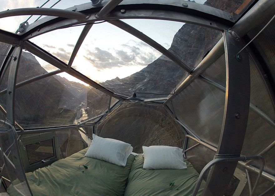 Terrifying See Through Sleeping Capsules Hang 400 Feet Above Peru S Sacred Valley