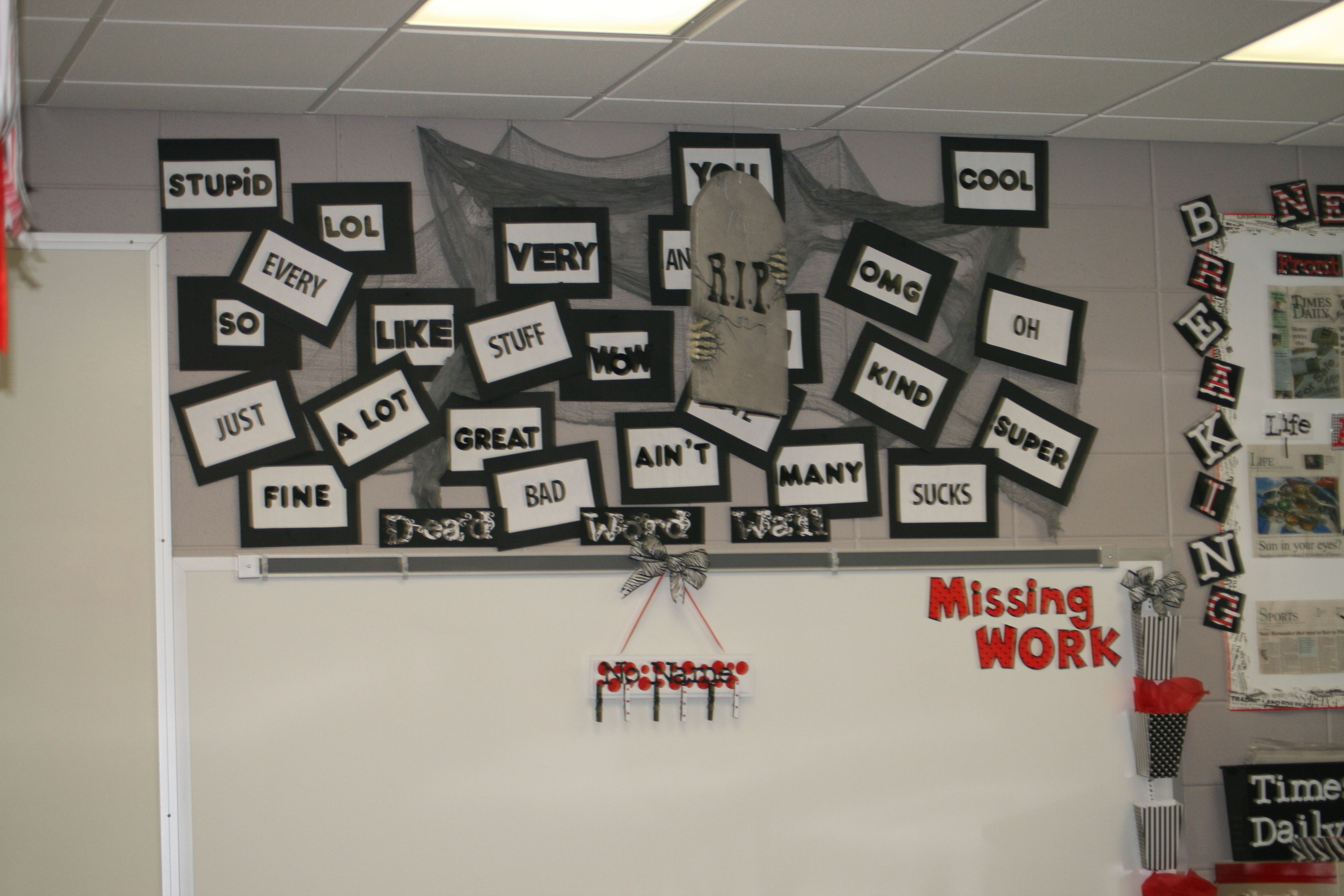 Another Pic Of My Dead Word Wall High School English