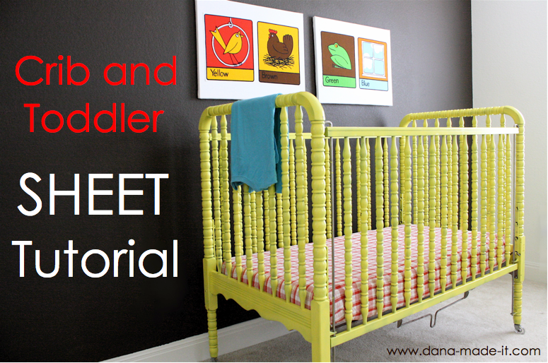 """luvinthemommyhood: Crib & Toddler Bed Sheet Tutorial with Guest - Dana from """"Made"""""""