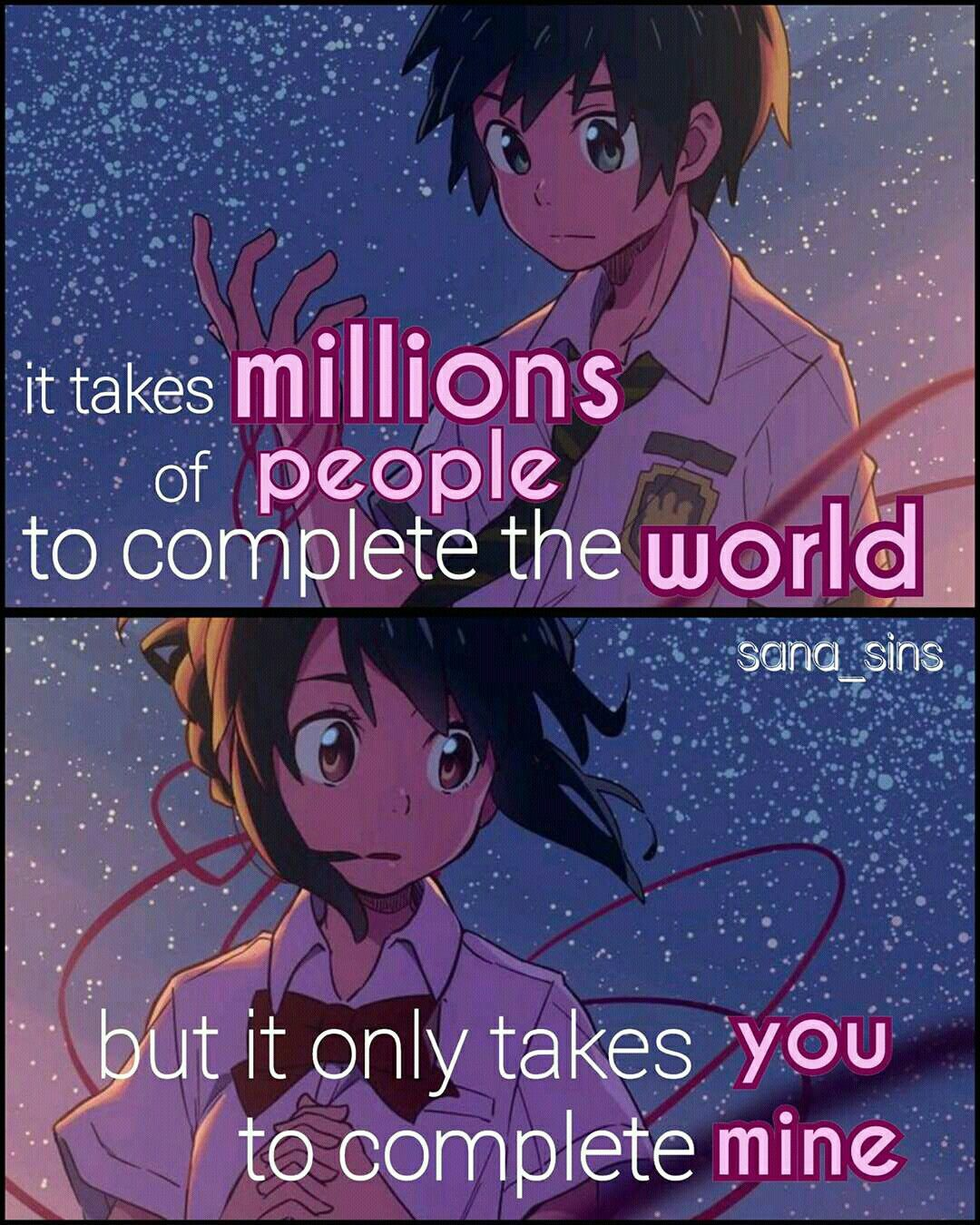 Pin by Mona Sara on anitoon Anime love quotes, Anime